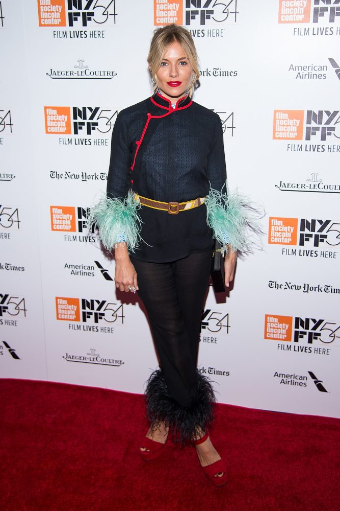 """NEW YORK, NY - OCTOBER 15:  Actress Sienna Miller attends the 54th New York Film Festival closing night screening of """"The Lost City Of Z"""" at Alice Tully Hall, Lincoln Center on October 15, 2016 in New York City.  (Photo by Michael Stewart/Getty Images)"""