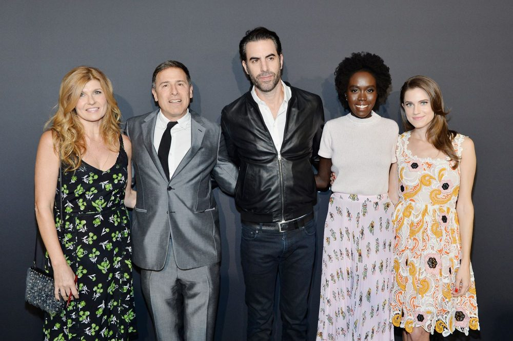 Connie Britton, David O. Russell, Sacha Baron Cohen, Kuoth Wiel, Allison Williams