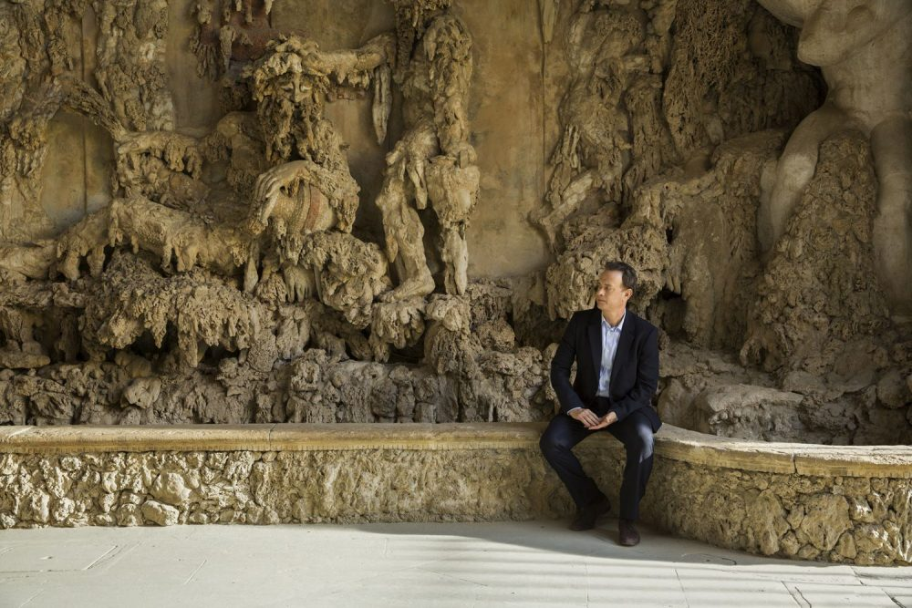 Tom Hanks  on the set of Columbia Pictures' INFERNO in the Grotto at Boboli Gardens.